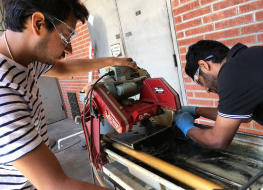 Graduate engineering students Manoj Sampangi Ram (L) and Skanda Rai are originally from India and study at California State University, Long Beach on student visas.