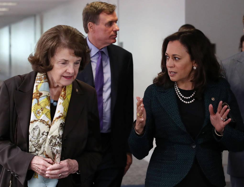 Image result for senator feinstein and senator harris