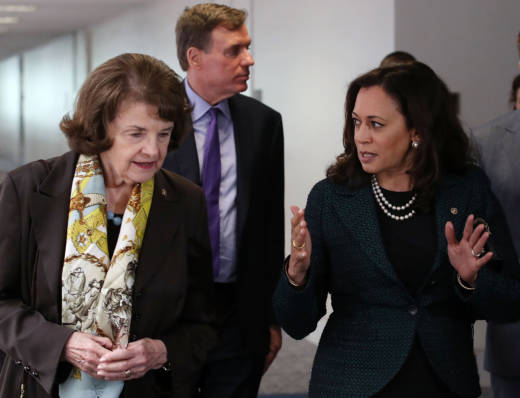 The initial reactions of Dianne Feinstein and Kamala Harris bring into sharp relief how different these two U.S. senators are.