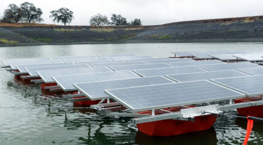 Pristine Sun installs floating solar panels in wastewater holding ponds and reservoirs in California.