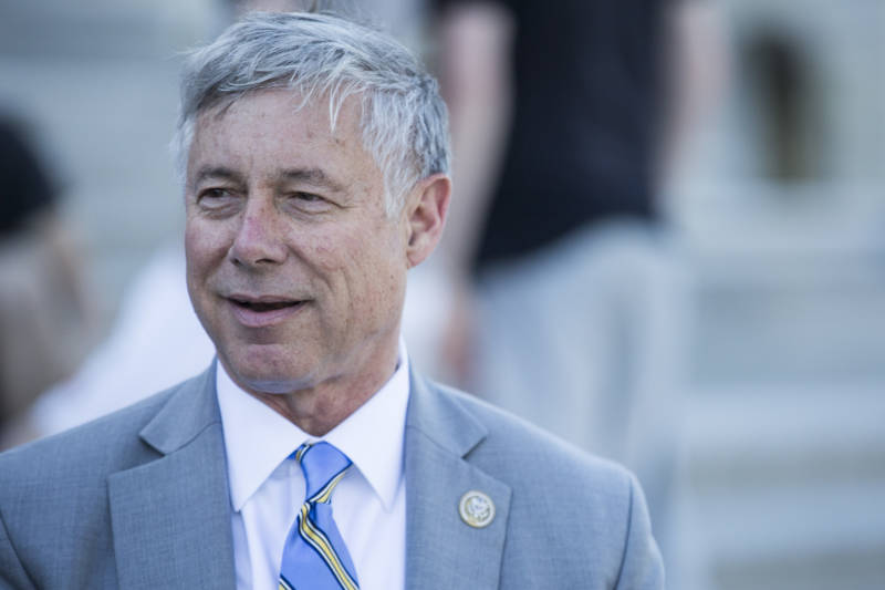 Rep. Fred Upton (R-MI) stands outside the Capitol Building after a vote on May 3, 2017, in Washington, D.C. The moderate Republican announced he would support his party's health care bill after adding an amendment he believes will help prevent people with pre-existing medical conditions from losing coverage.