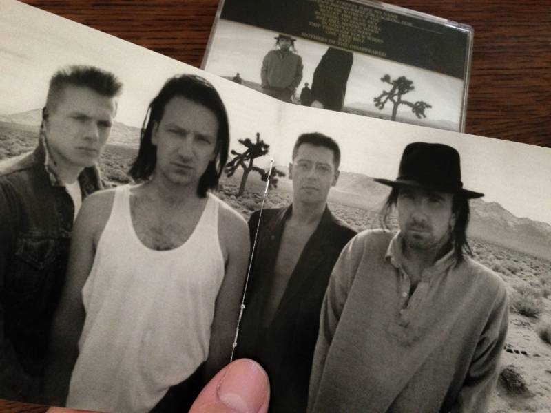 Anton Corbijn's iconic shot of U2 and on the inside cover of 'The Joshua Tree.'