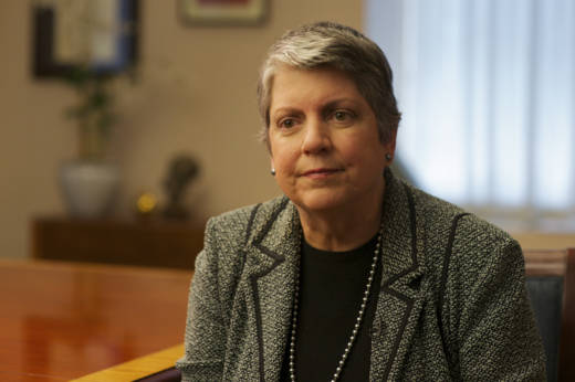 University of President Janet Napolitano testified to joint legislative oversight committee about UC budget practices.