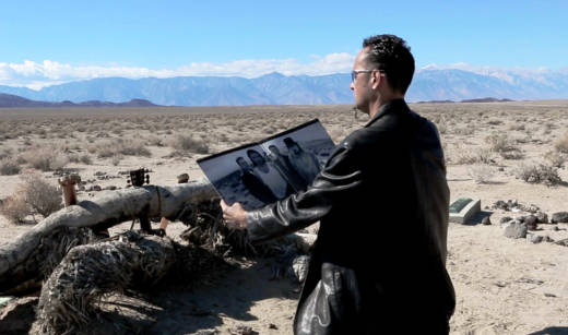 David Takaji of the Title Trackers during a video shoot at the site of U2's 'The Joshua Tree.'