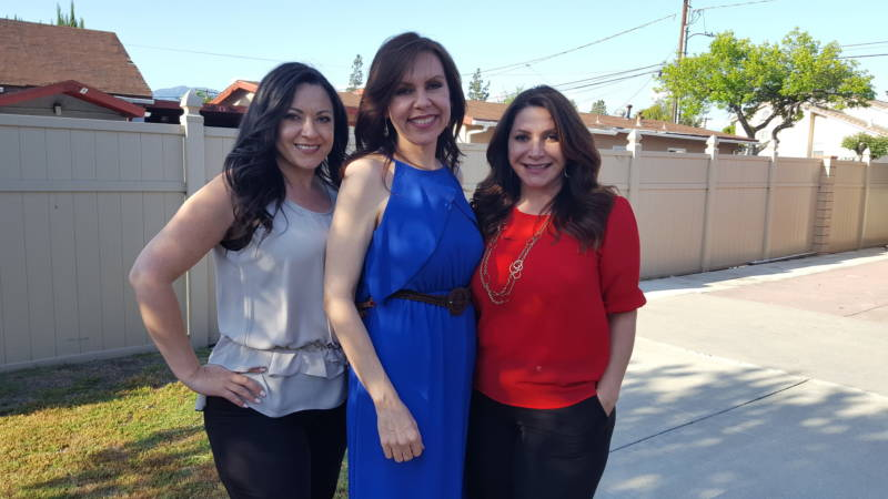 Asm. Blanca Rubio (center) with her sisters Sylvia (left) and Susan (right) at her Baldwin Park home.