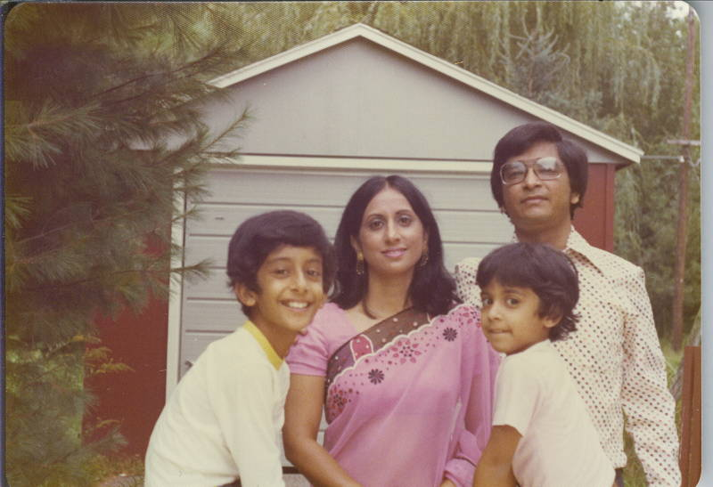 Asm. Ash Kalra with his parents and older brother.