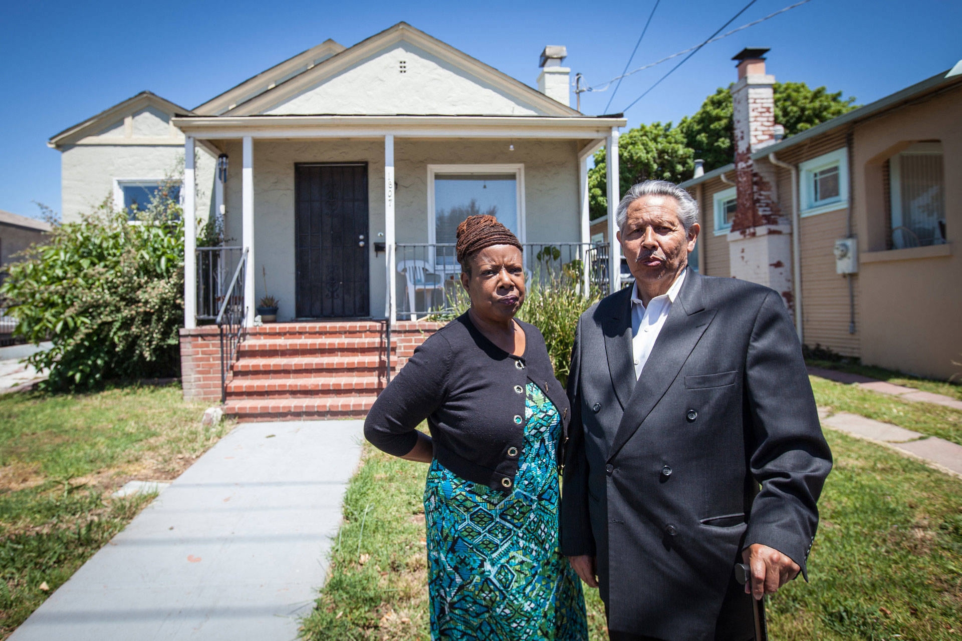 Vanessa and Richard Bulnes still long for their old home in East Oakland. Deborah Svoboda/KQED