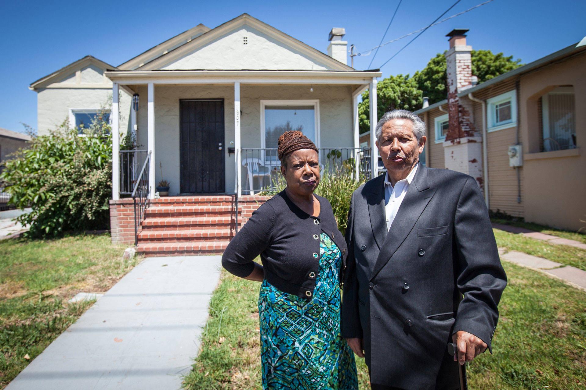 Vanessa and Richard Bulnes still long for their old home in East Oakland. Deborah Svoboda/KQED