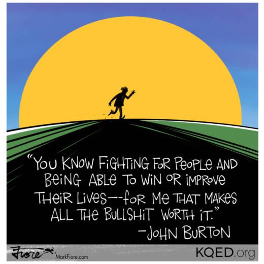 John Burton Farewell by Mark Fiore