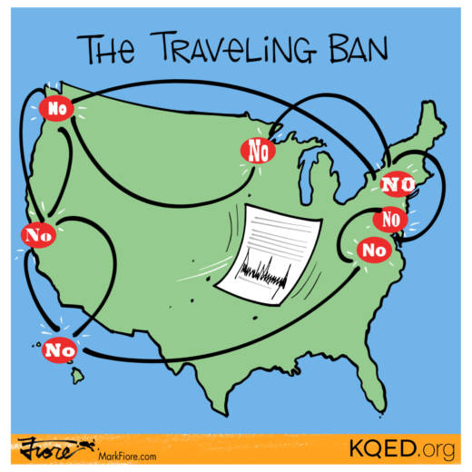 The Traveling Ban by Mark Fiore
