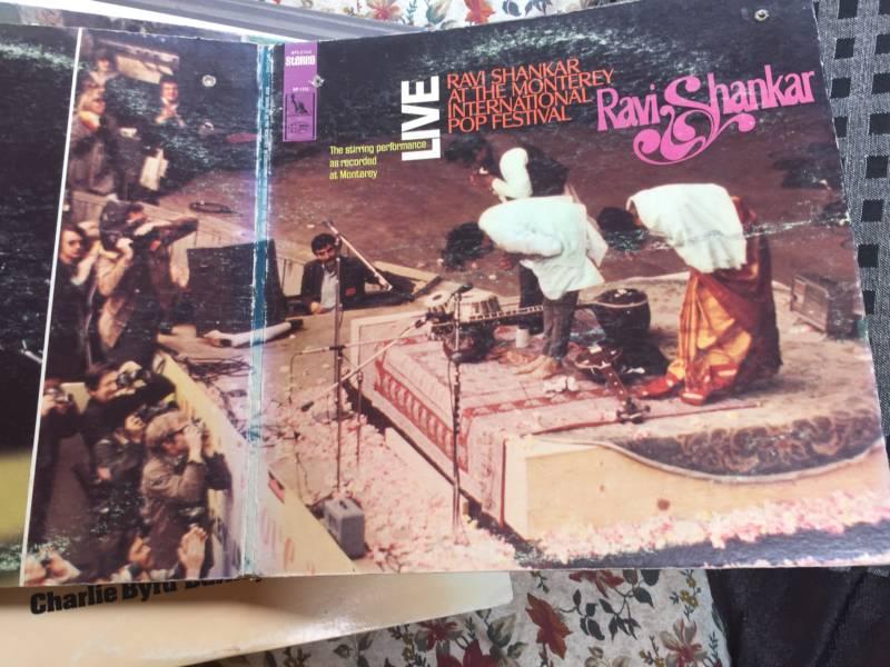 "Penny Vierrege on the back fold-out of Ravi Shankar's album: ""Ravi Shankar at the Monterey Pop International Festival, Live."""