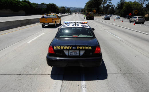 A California Highway Patrol cruiser.