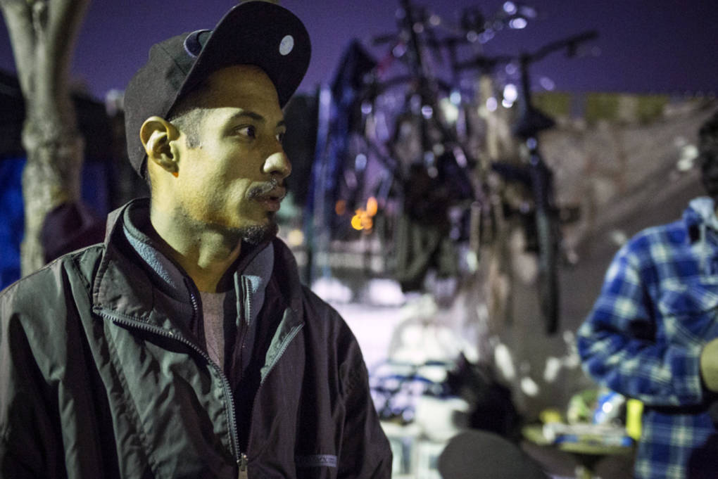 Antonio Garcia, 27, has been homeless in Van Nuys for about two years. 'I'm trying to hang in here,' Garcia says. He's focused on teaching and helping homeless youth struggling with addiction.