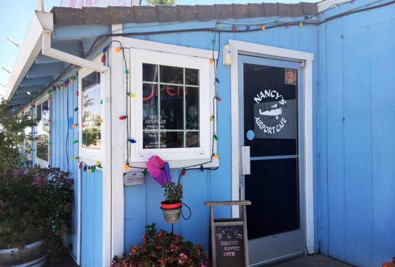 Nancy's Airport Cafe just outside of Willows is a favorite of recreational pilots.