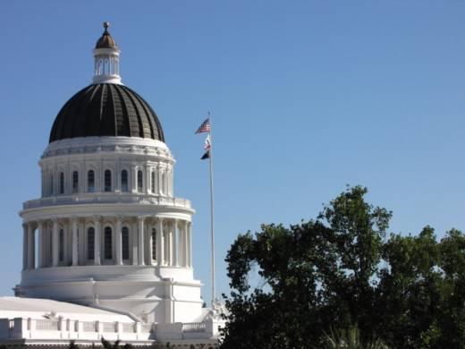 The state Capitol dome in Sacramento.