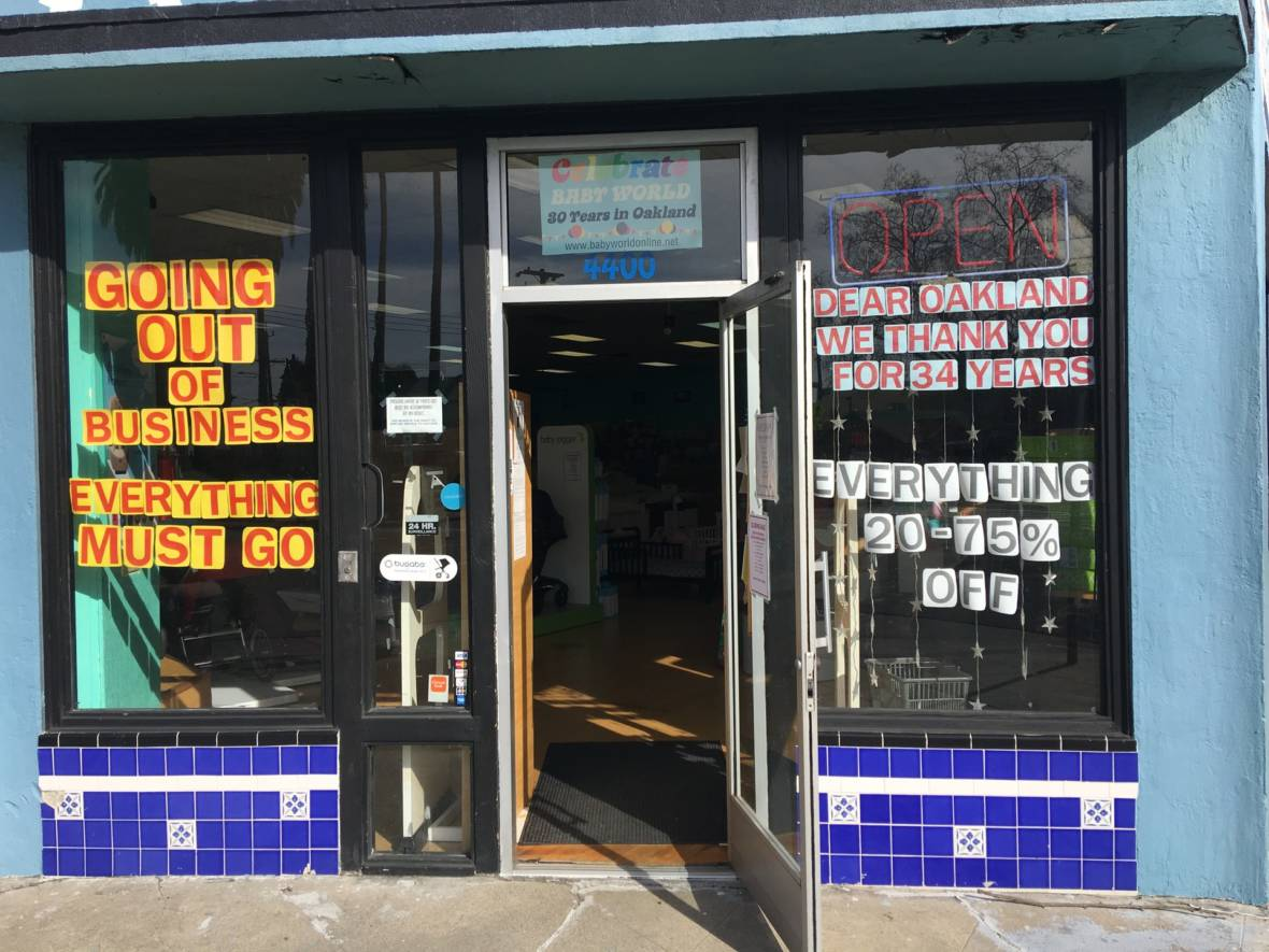 Oakland Retailers Battle Competition From Online Shopping