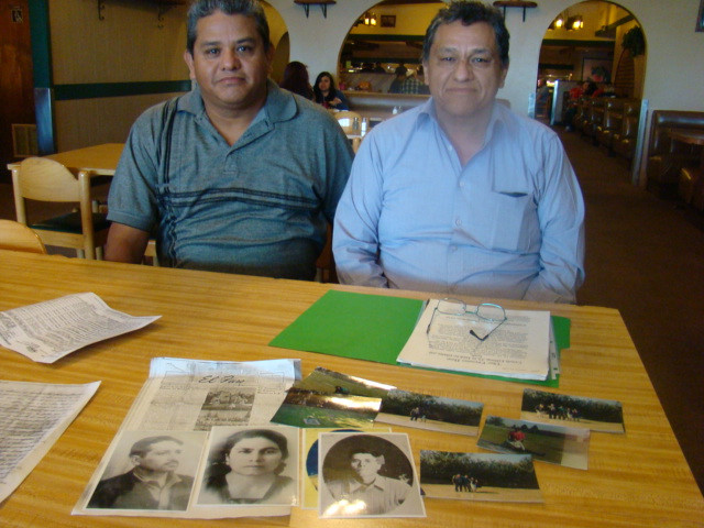 Guillermo and Jaime Ramirez, brothers who are related to two of the passengers who died in the 1948 plane crash.