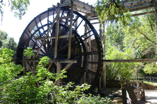 At 36 feet tall, the Bale Grist Mill's waterwheel is one of the tallest waterwheels in North America.