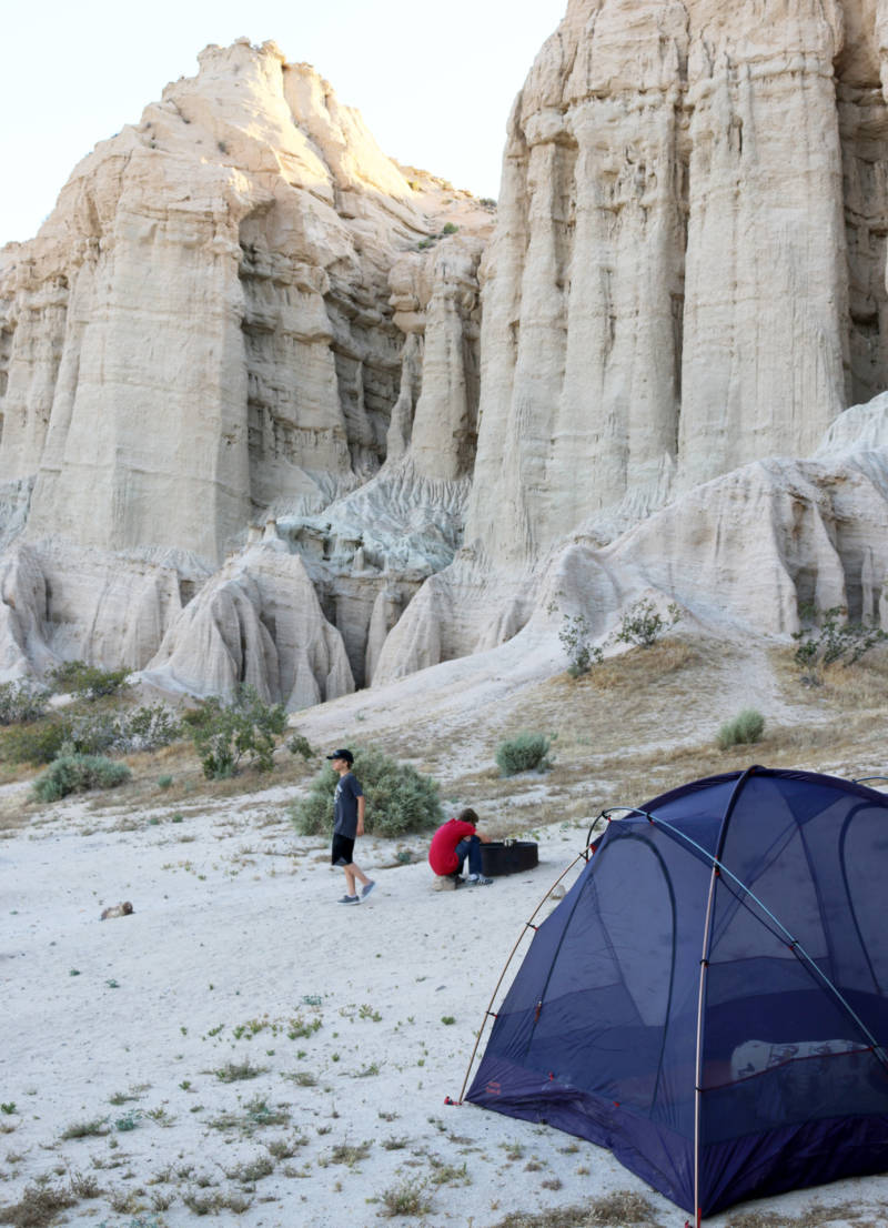 Desert cliffs add drama and beauty to Ricardo Campground.