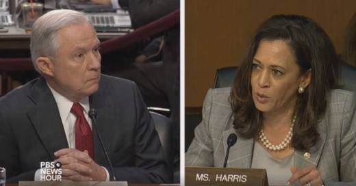 California Sen. Kamala Harris questions Attorney General Jeff Sessions.