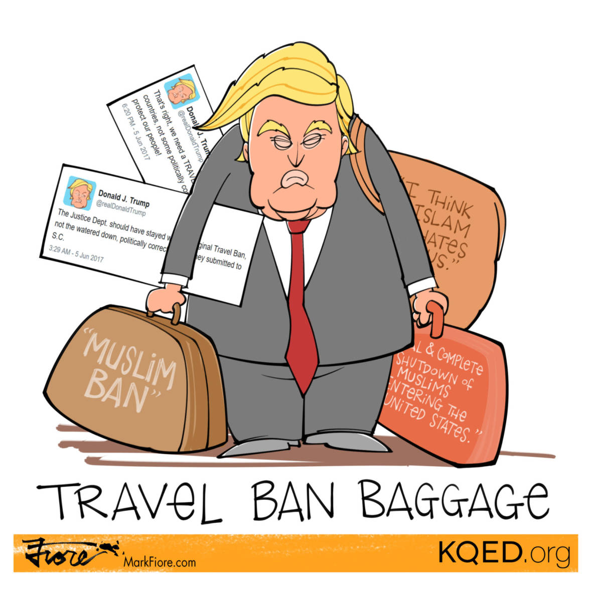 Travel Ban Baggage by Mark Fiore