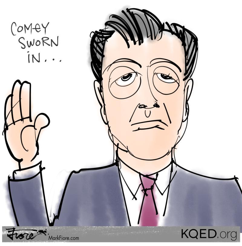 Comey Sworn In by Mark Fiore