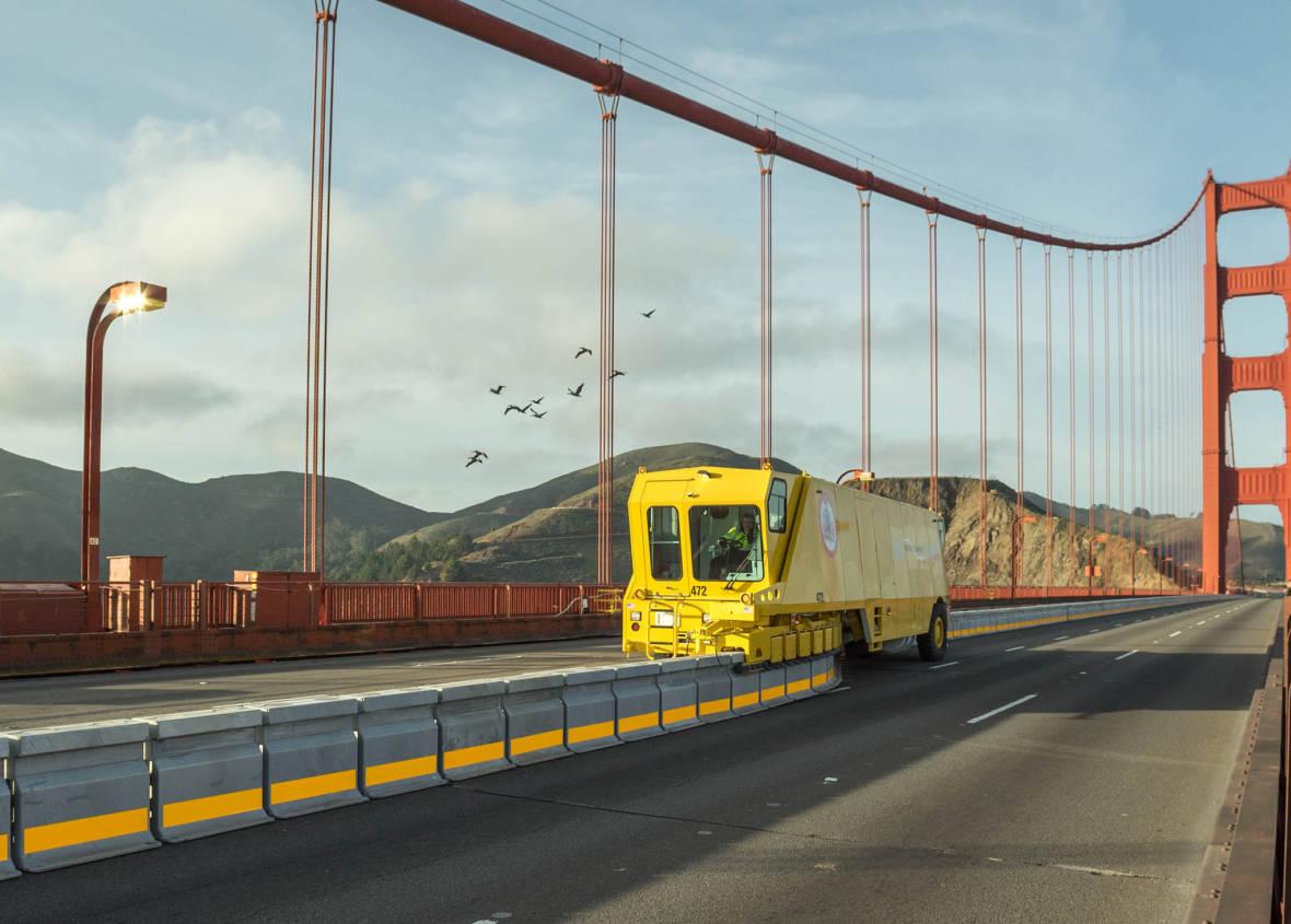 The Mesmerizing Machine That Makes Your Golden Gate Bridge Drive Less Terrifying