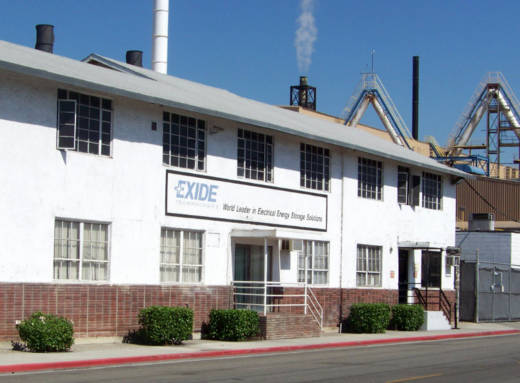 The Exide Technologies plant in Vernon.