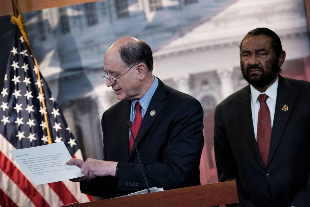 California Democrat Launches Longshot Bid to Impeach Trump