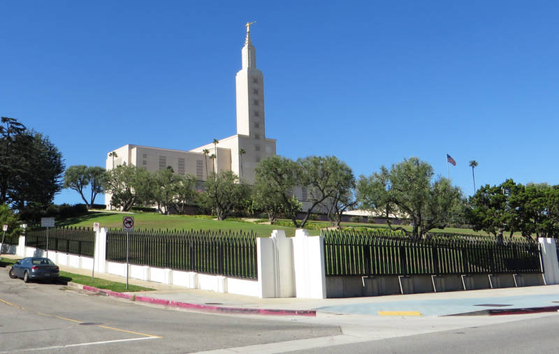 The Santa Monica Fault cleaves a path along portions of Santa Monica Boulevard creating steep slopes like the one that's home to the Church of Jesus Christ of Latter-day Saints.