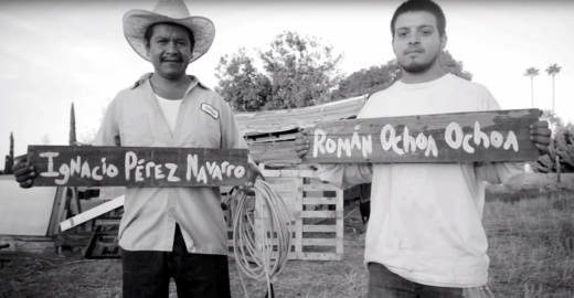 A video for Lance Canales and the Flood's version of Woodie Guthrie's ballad 'Deportee' features author Tim Z. Hernandez whispering the names of those who died in the 1948 plane crash, and of people holding signs painted with those names.