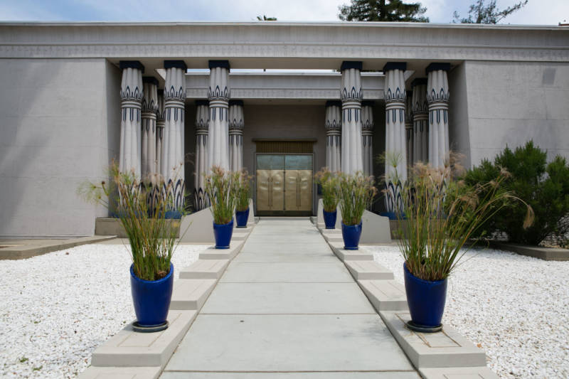 The entrance to the Rosicrucian Egyptian Museum in San Jose.
