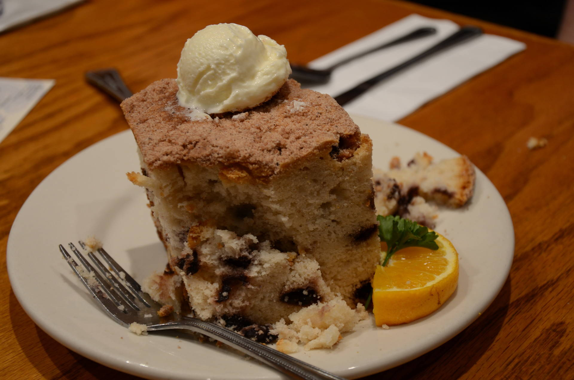 Hobee's famous blueberry coffee cake was invented by Peter Taber in the restaurant's early years. Ryan Levi/KQED
