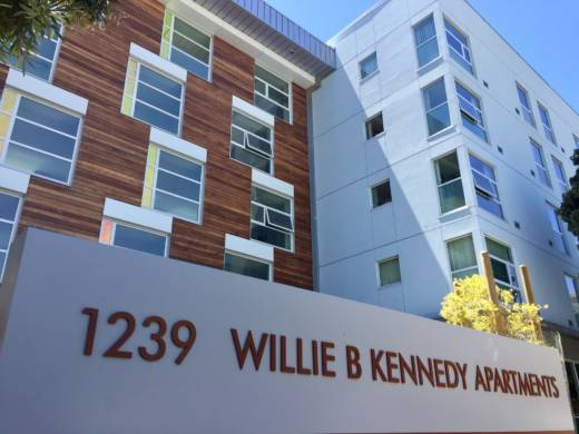 Willie B. Kennedy Apartments at 1239 Turk Street in San Francisco.