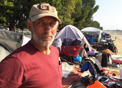 Daniel Stockey was one of about 100 homeless people who were evicted from a half-mile stretch of riverbank along the dry Santa Ana River.