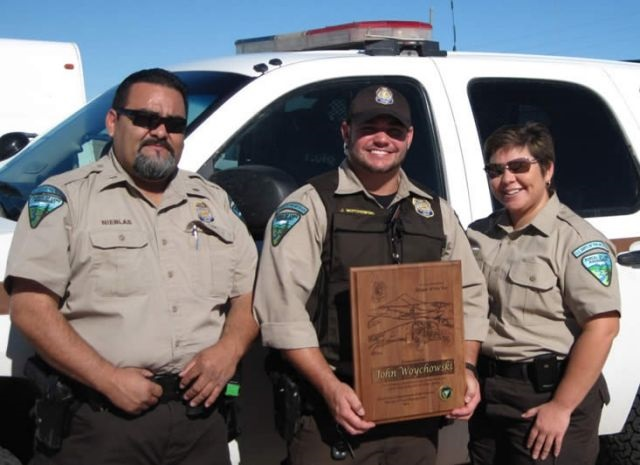 Bureau of Land Management Ranger John Woychowski was named El Centro Field Office 'Ranger of the Year' in 2011.
