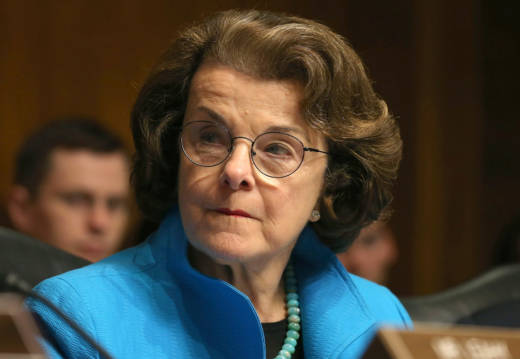 Sen. Dianne Feinstein at a Senate Judiciary Committee hearing in 2015.