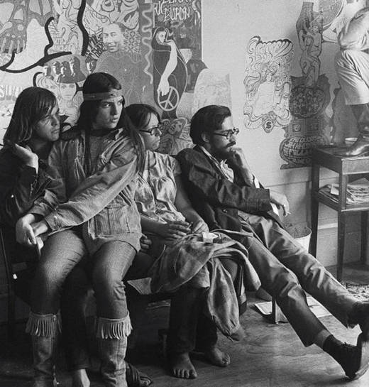 Inside the Haight Ashbury Free Medical Clinic in its earliest days. The clinic opened on June 7, 1967, and remained open past midnight. This photo was taken by Gene Anthony, who chronicled much of the Summer of Love.
