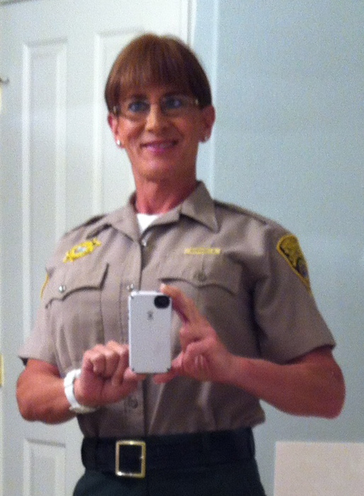 Correctional Officer Meghan Frederick in her uniform.