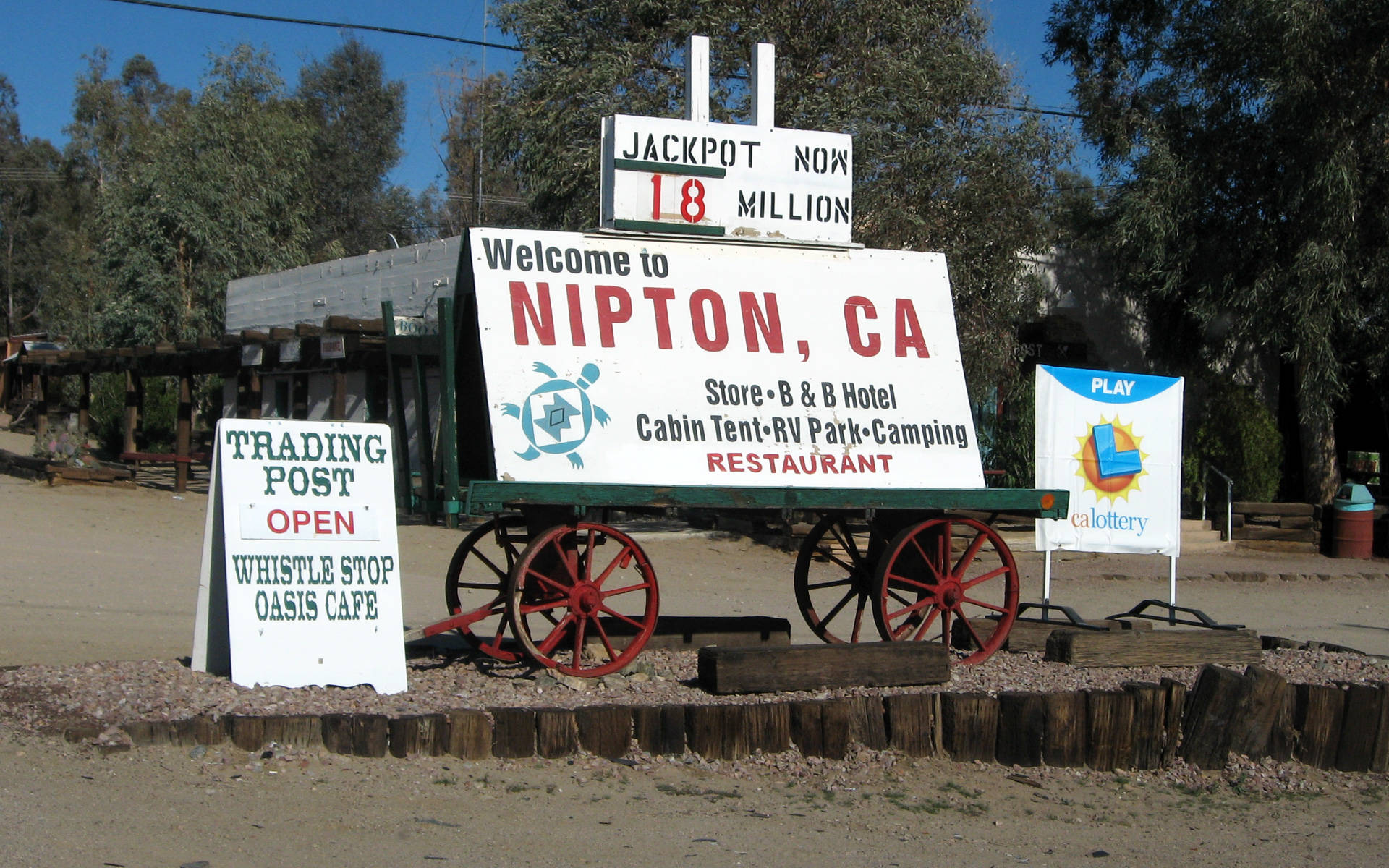 One of the nation's largest cannabis companies announced it has bought the entire 80-acre desert town of Nipton.  Ken Lund/Flickr