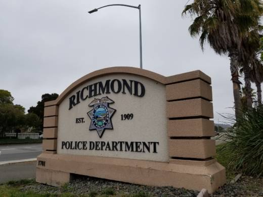 A sign outside the Richmond Police Department.