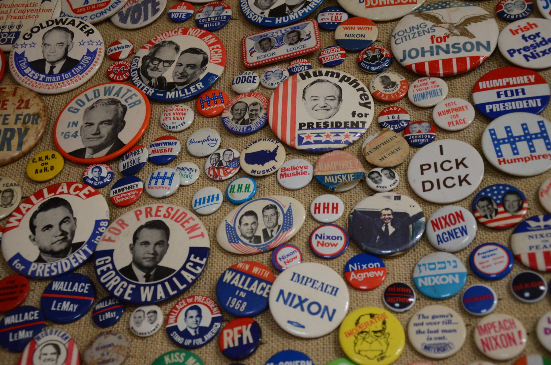 Alan Rosenzweig started collecting buttons when he was 12 years old. His collection now totals more than 240,000. Ryan Levi/KQED