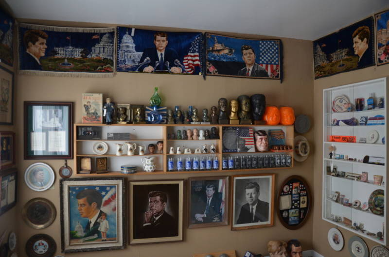 Alan Rosenzweig's John F. Kennedy memorabilia room. He has more than 400 pieces in this collection.