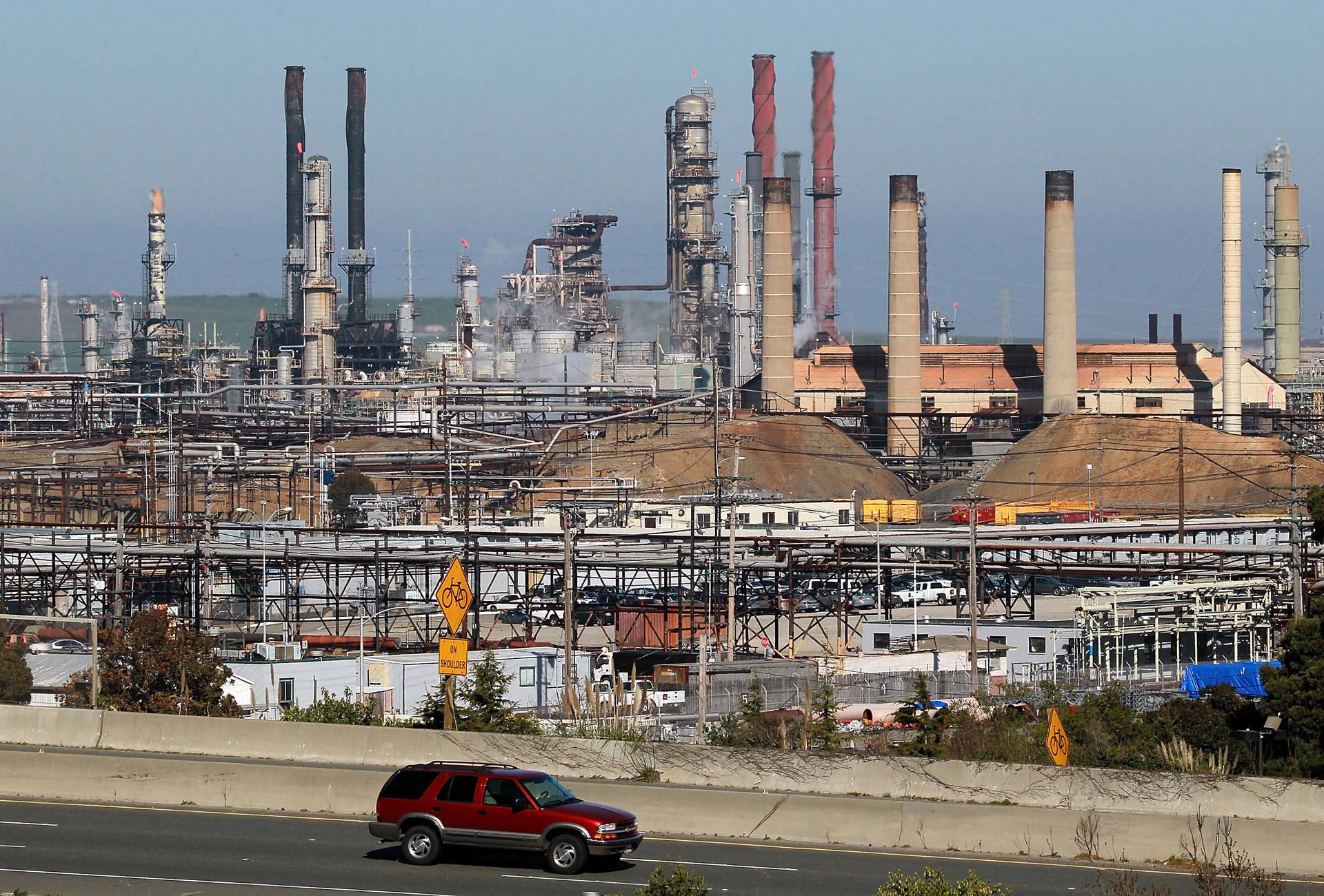 The Chevron refinery in Richmond. Justin Sullivan/Getty Images