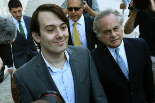 Martin Shkreli, the former pharmaceuticals executive who became known as 'Pharma Bro,' arrives for the first day of jury selection in his federal securities fraud trial on June 26, 2017.