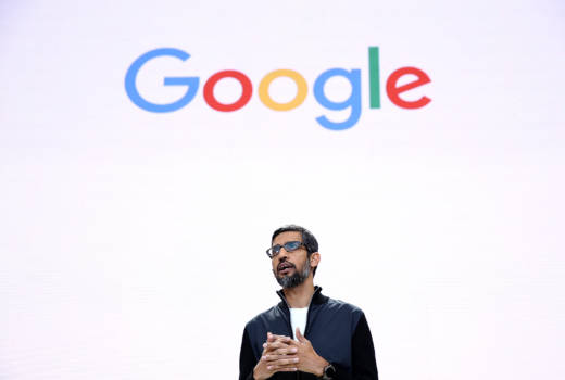"Google CEO Sundar Pichai said in a blog post that to suggest a group of colleagues has traits that make them less ""biologically suited"" for engineering jobs is contrary to Google's basic values. He is pictured here at Google I/O 2017 Conference in Mountain View."