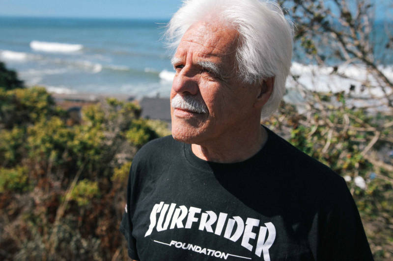 'I've been surfing at this beach since the Eisenhower administration,' said Rob 'Birdlegs' Caughlan, the first president of the Surfrider Foundation, the plaintiff in the protracted legal fight over access to Martins Beach.