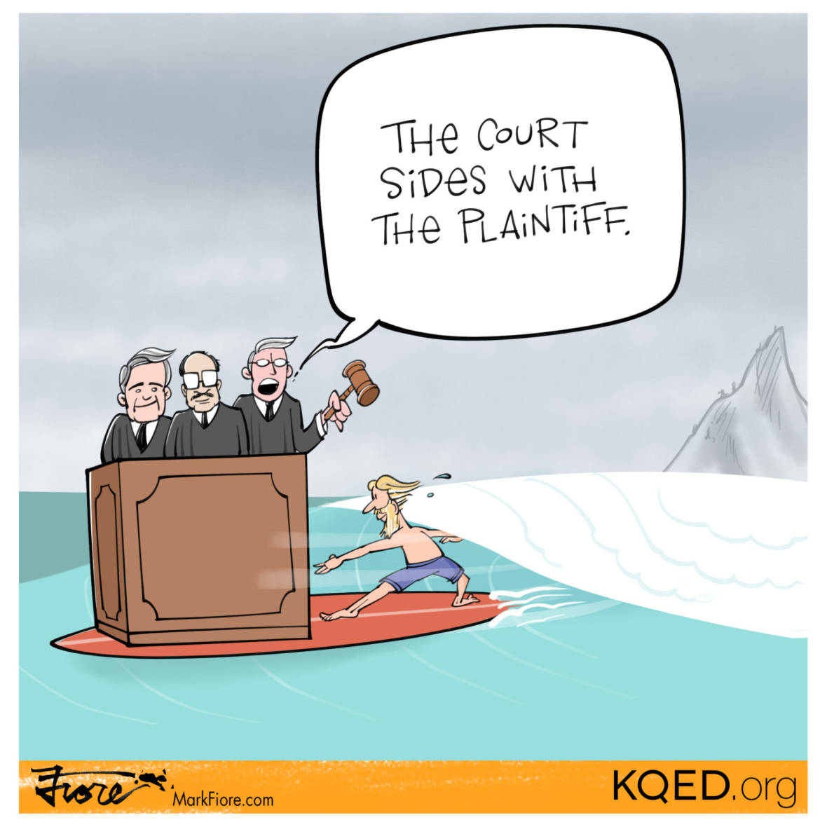 Court Surfing by Mark Fiore