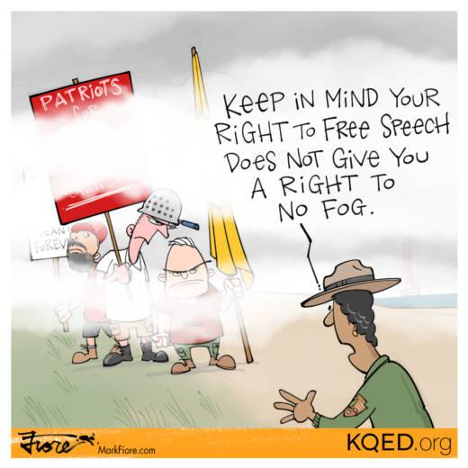 Free Speech in the Fog by Mark Fiore