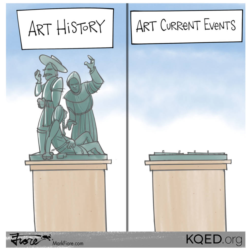 Pioneer Monument by Mark Fiore
